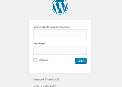 6 - Login al pannello di controllo di Wordpress.